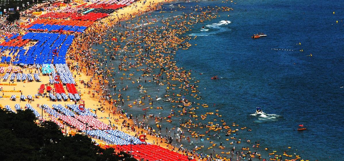 địa điểm tham quan ở Busan - bãi biển Haeundae