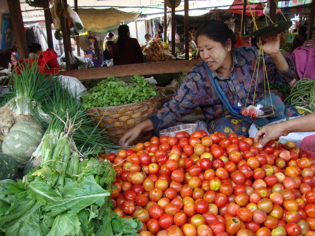 Chợ địa phương Myanmar