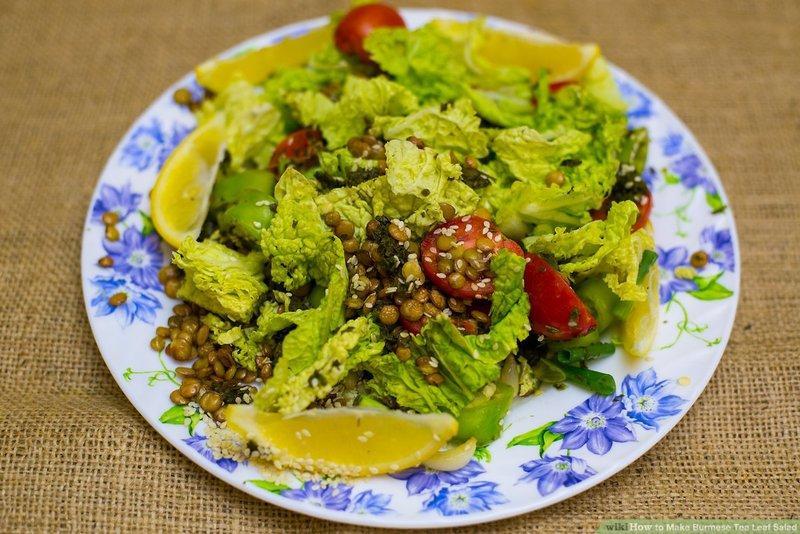salad lá trà thanh mát