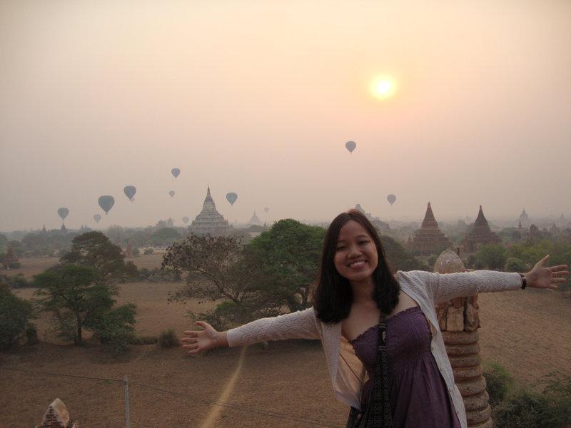 Ngắm bình minh ở Bagan