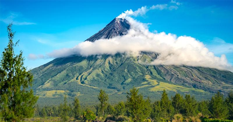 Núi Mayon ở Lagazpi, Albay