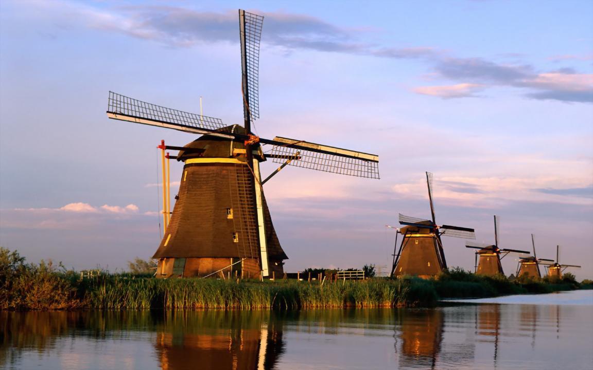 Cối xay gió ở Kinderdijk địa điểm du lịch hà lan