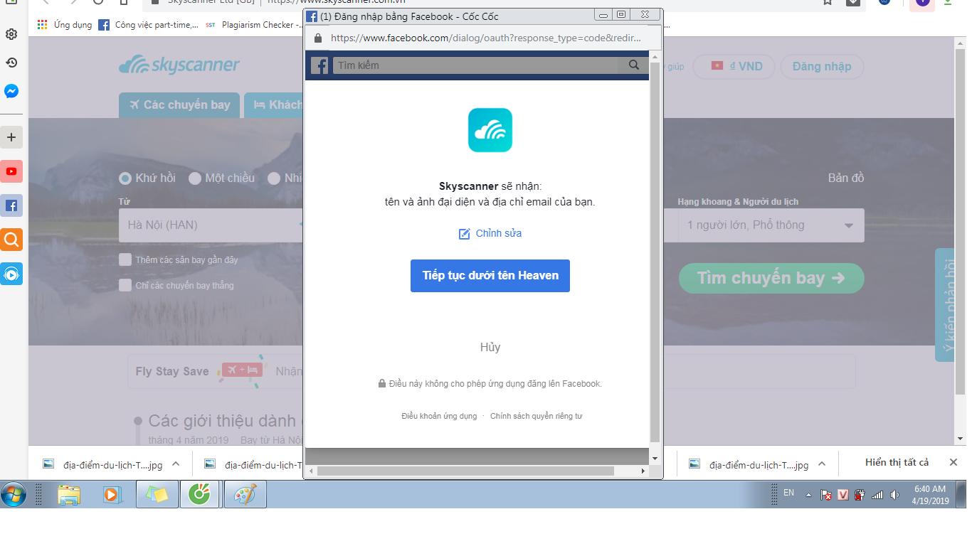 Xác nhận tên Facebook