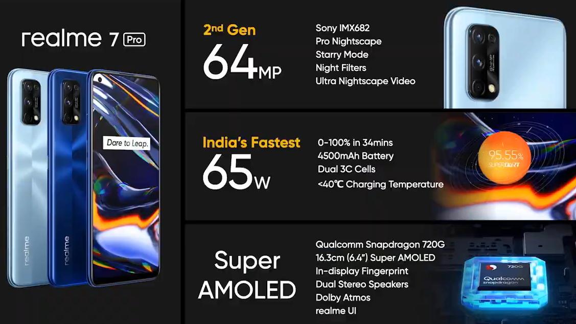 realme 7 Dan 7 Pro Dilancarkan - Snapdragon 720G, Pembesar Suara Stereo,  Pengecasan 65W, Dan Skrin AMOLED -