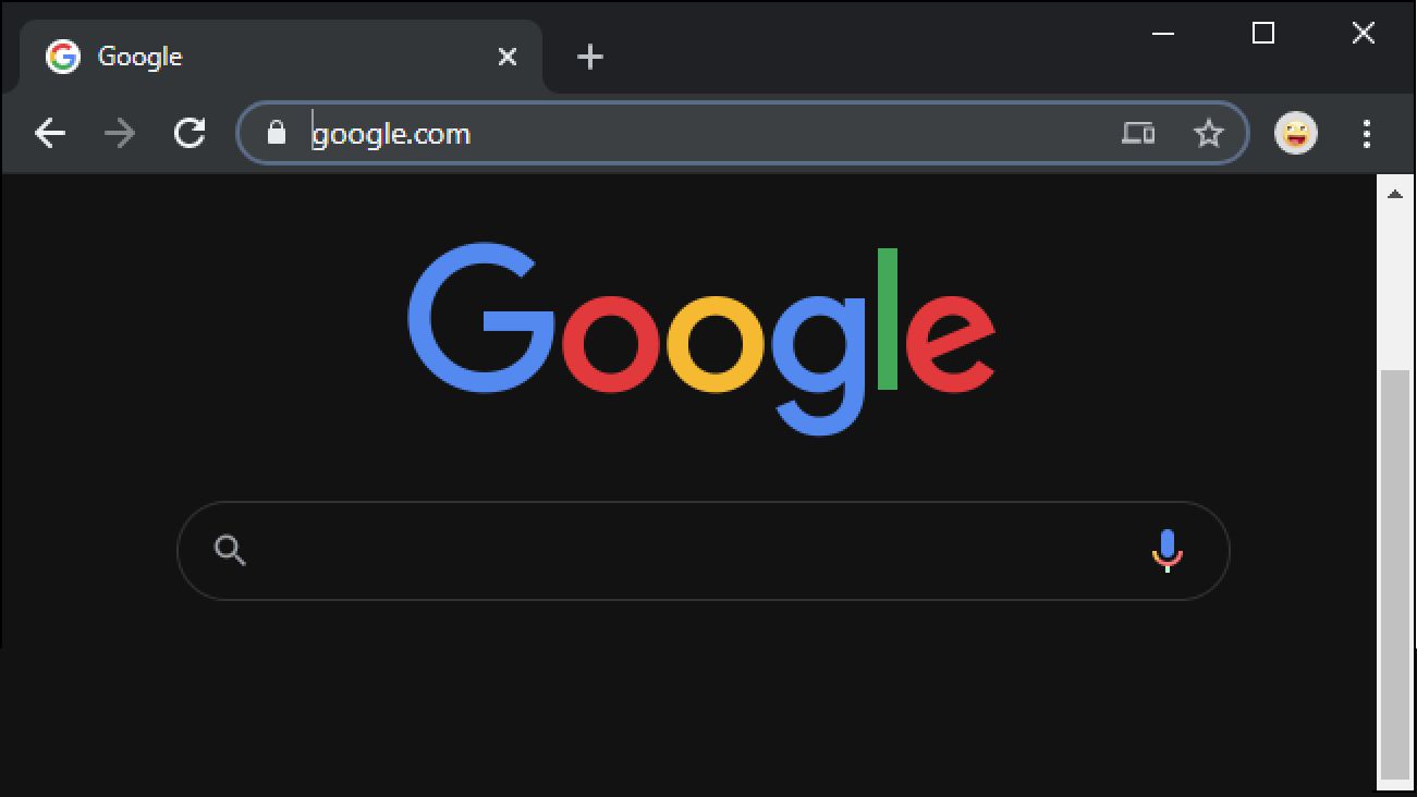 Dark mode google search