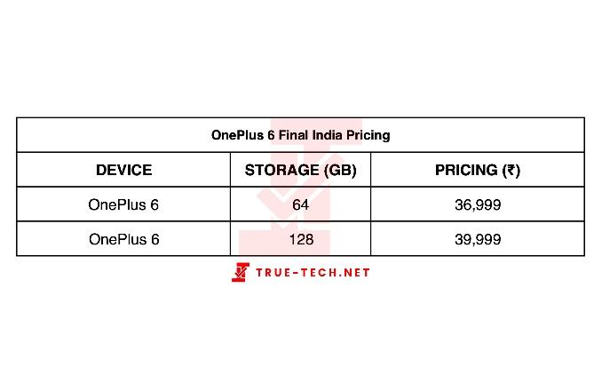 OnePlus 6 price info leaked
