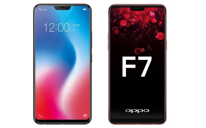 Vivo V9 vs OPPO F7 comparison