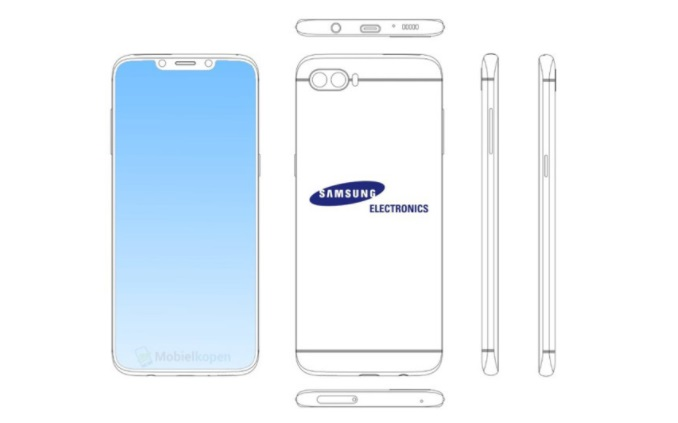 Samsung files a new patent for notch design
