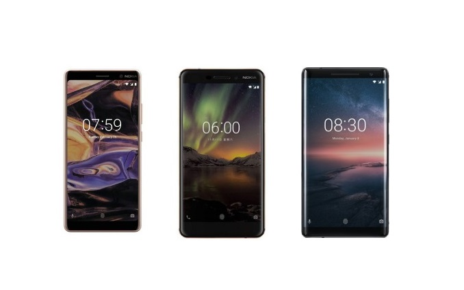 Nokia 8 sirocco, nokia 7 plus and nokia 6 launched