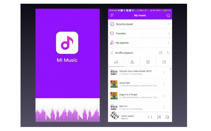 Mi Music app