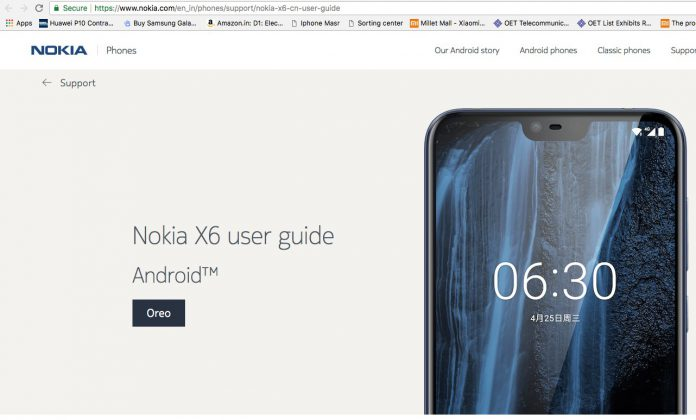 Nokia-X6-India-Support-Page