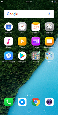 Realme 1 Home screen