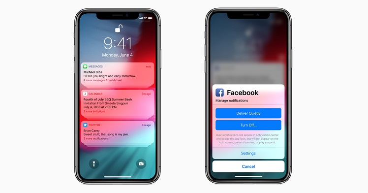 iOS 12 - Group Notifications