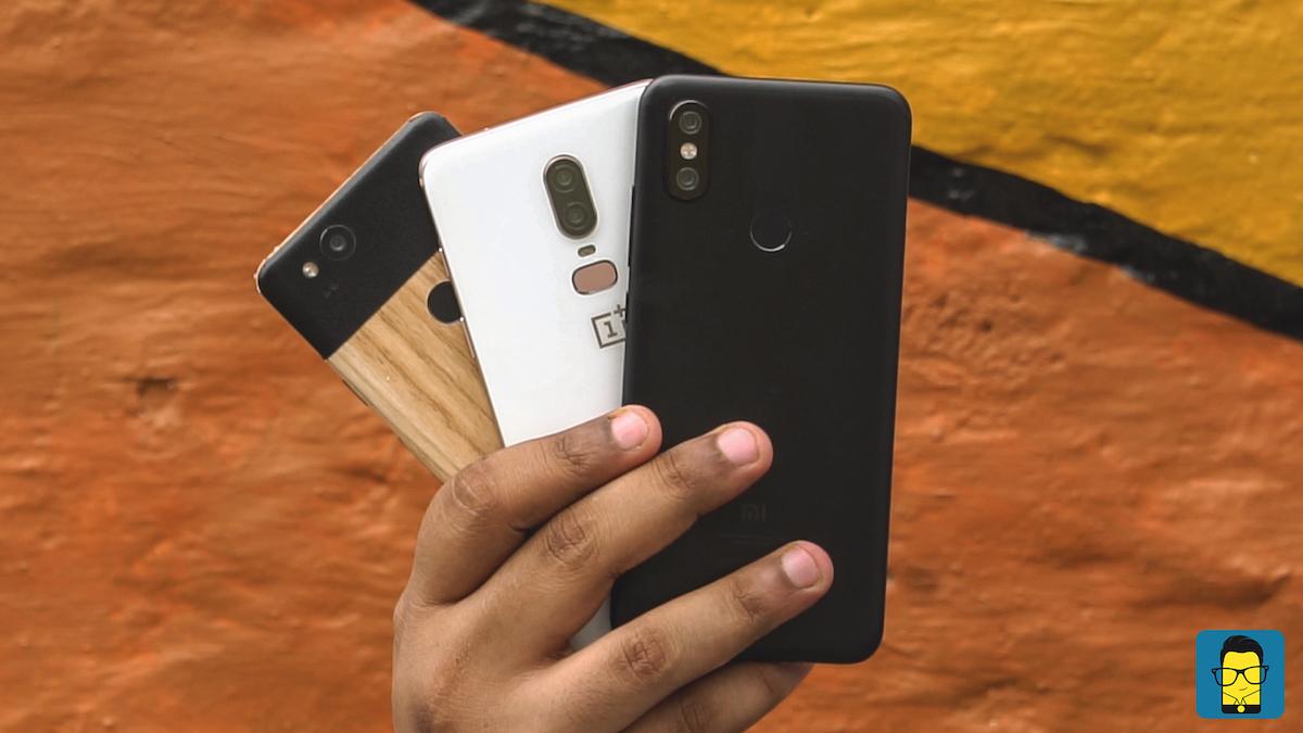 Mi A2, OnePlus 6, Pixel 2