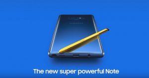 Samsung Galaxy Note 9 - Blue
