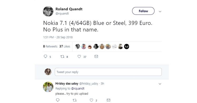Nokia 7.1 leaked