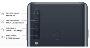 Galaxy A9 with four cameras leaked