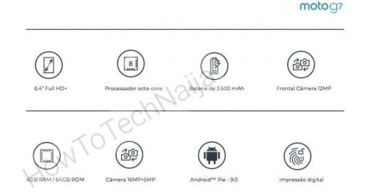 Moto G7 leaked specs