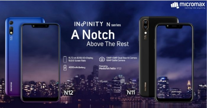 Micromax Canvas Infinity N11 and N12 - Feature