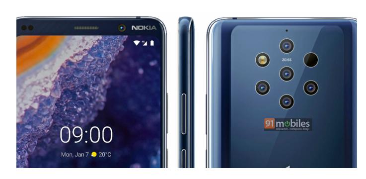 Nokia 9 PureView - Closeup