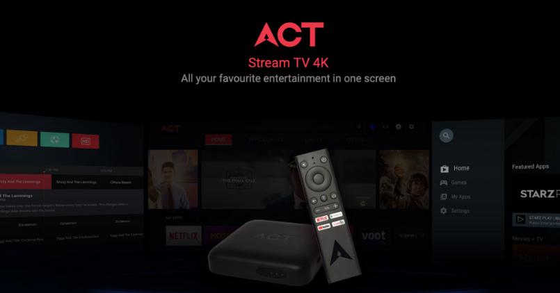 ACT Fibernet Stream TV 4K - Feature Image