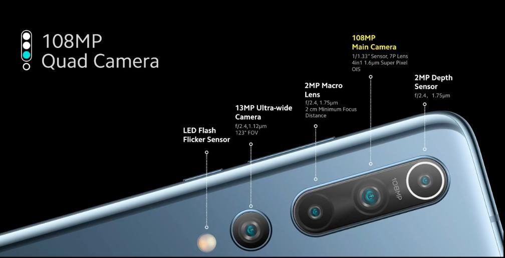 Mi 10 5G - Cameras
