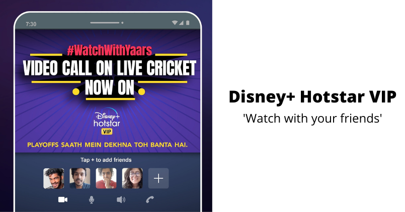 Disney+ Hotstar VIP watch with your friends
