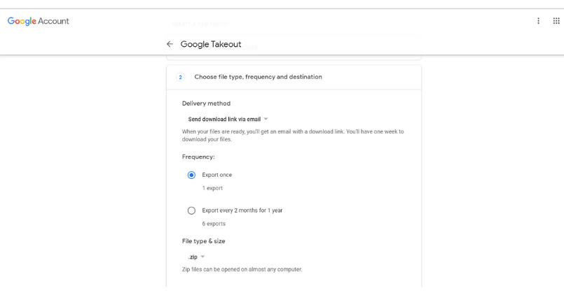 Google Photos storage backup