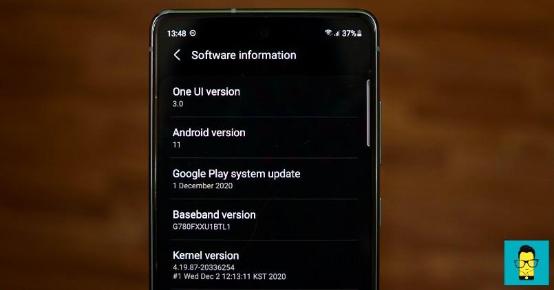 Samsung Galaxy S20 FE_Software_One UI
